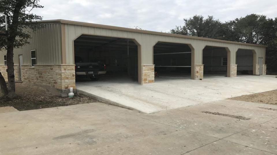 reisdential steel garage temple texas